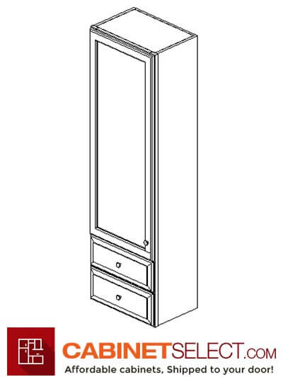 "AG-W2D1848: Greystone Shaker 18"" 2 DrAGer Wall Cabinet"