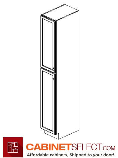 "AG-WP1590: Greystone Shaker 15"" 1 Door Pantry Cabinet"