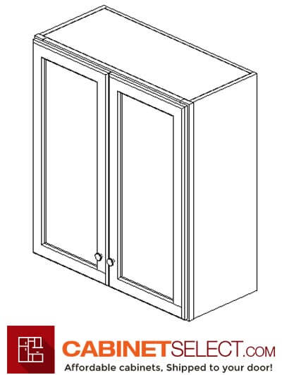 "AK-W2730B: Shakertown 27"" Double Door Wall Cabinet"