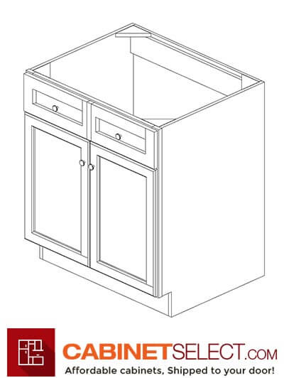 "AP-SB30B: Pepper Shaker 30"" 2 Door Sink Base Cabinet"