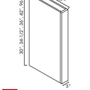 "AW-CLW342: Ice White Shaker 3x42"" Wall Column Filler"