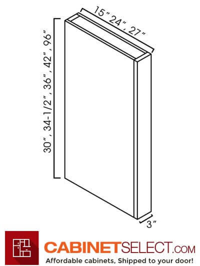 "AW-CLW396: Ice White Shaker 3x96"" Tall Column Filler"