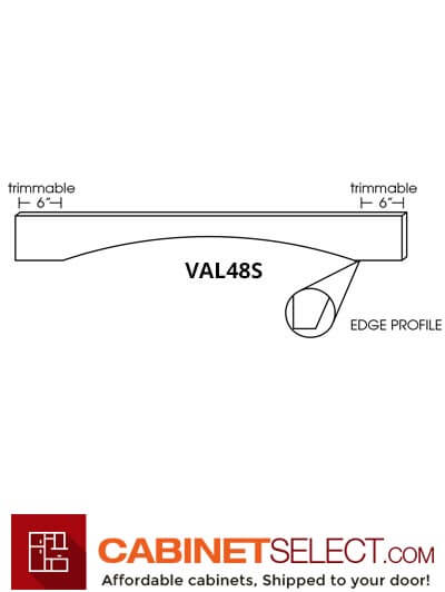 "AW-VAL48S: Ice White Shaker 48"" Arched Valance"