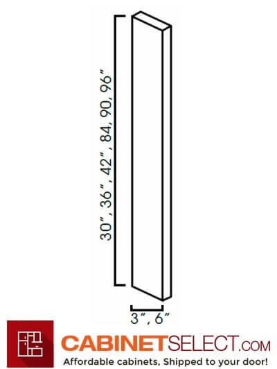 "MR-WF696-3/4: Sienna Rope 6x96"" Tall Filler"