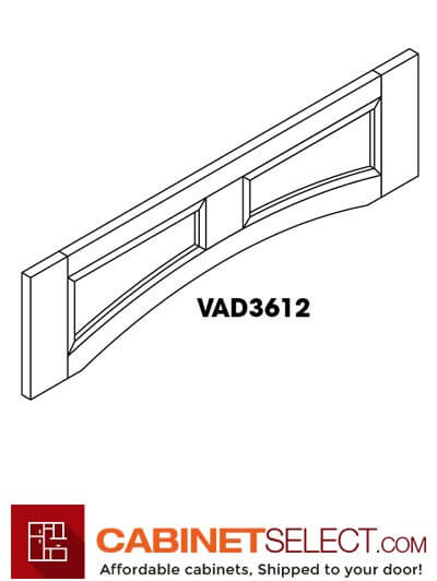 "SB-VAD3612: Signature Brownstone 36"" Arched Valance"