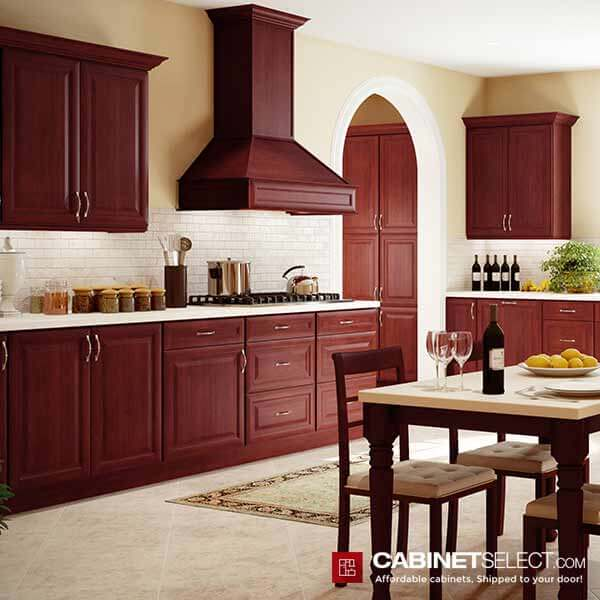 K Cherry Glaze Kitchen Cabinets