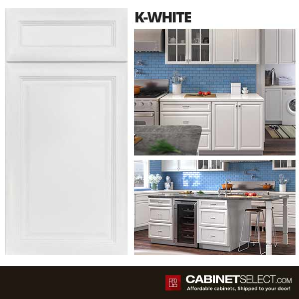 K White Kitchen Cabinets