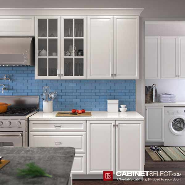 K White Cabinets For Laundry