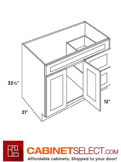 2 Door 2 Drawer Vanity Sink Base Cabinets V4221d