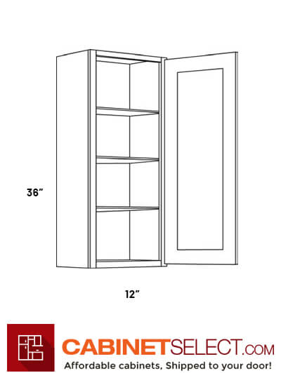 High 1 Door Wall Cabinets 2136