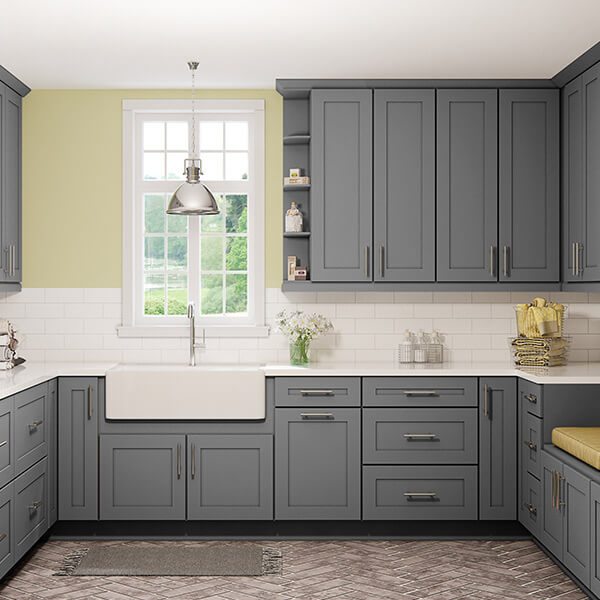 Shaker Grey Cabinets for Laundry Rooms | CabinetSelect.com
