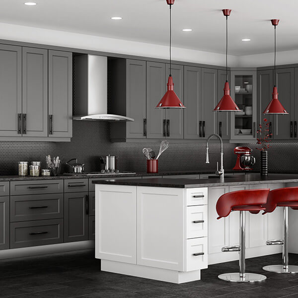 Gray Shaker Kitchen Cabinets | CabinetSelect.com