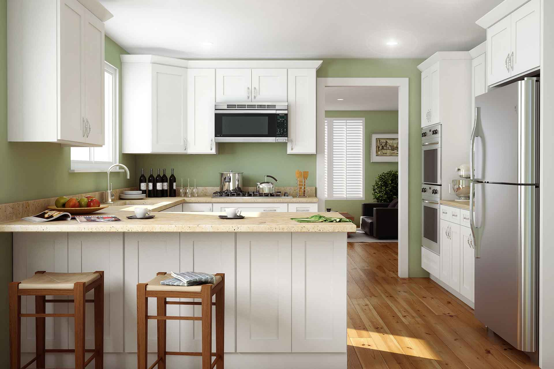 How much do RTA kitchen cabinets cost - person shopping for kitchen cabinets