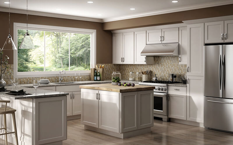The cost of white kitchen cabinets - shop cheap kitchen cabinets at CabinetSelect.com
